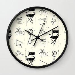 Filmmaking Pattern // Ink Drawing Wall Clock