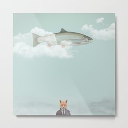 Foxed Metal Print