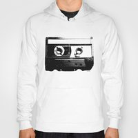 cassette Hoodies featuring CASSETTE by by INK! - Sandie Dolleris Thomsen