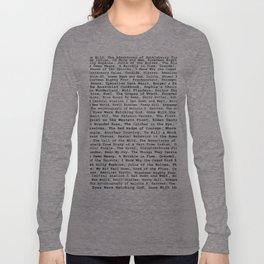 Banned Literature Internationally Print Long Sleeve T-shirt
