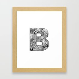 Cutout Letter B Framed Art Print