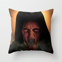 Unholy Mother Throw Pillow