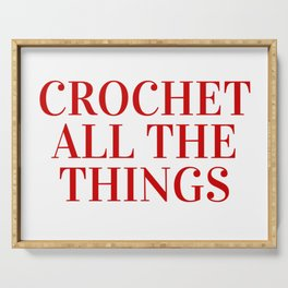 Crochet All The Things in Red Serving Tray