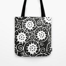 Black and White Swirl Pattern Tote Bag