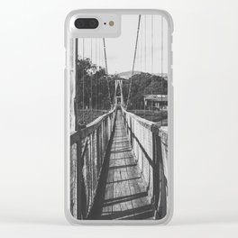 Black and White Bridge - Kauai, Hawaii Clear iPhone Case