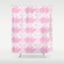 Pink Hellebores Shower Curtain
