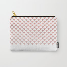 Chic trendy luxury faux pink glitter hearts Carry-All Pouch
