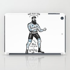 STAND UP AND TRY AGAIN (White) iPad Case