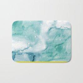 watercolor marble 03 Bath Mat