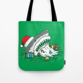 The Santa Shark Tote Bag