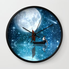 The Moon and Me v2 Wall Clock