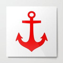 Anchor (Red & White) Metal Print