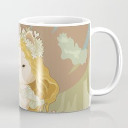 Spring Art Nouveau Cat Coffee Mug
