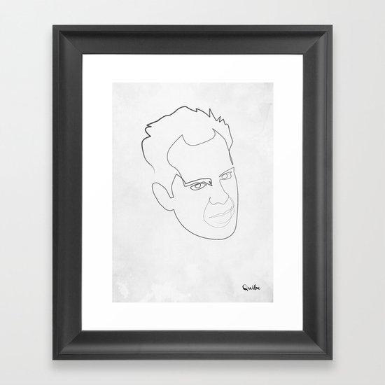 One line Die Hard Framed Art Print