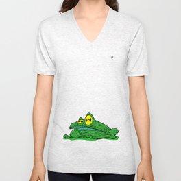 Frog in a bog Unisex V-Neck