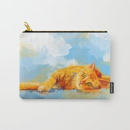 Cat Dream - orange tabby cat painting Carry-All Pouch