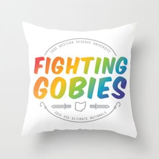 Fighting Gobies Nationals - Rainbow Throw Pillow