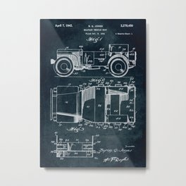1941 Military vehicle body patent Metal Print
