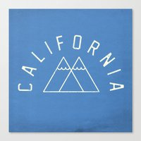 california Canvas Prints featuring California by Roland Lefox