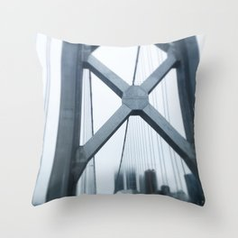 City in the Clouds- San Francisco  Throw Pillow