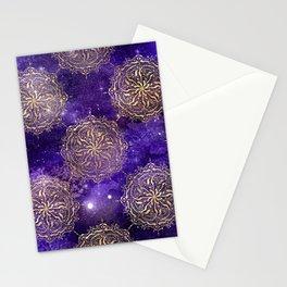 Gold Dharma Mandala Pattern Stationery Cards