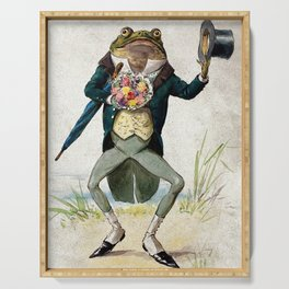 Gentleman Frog by George Hope Tait Serving Tray