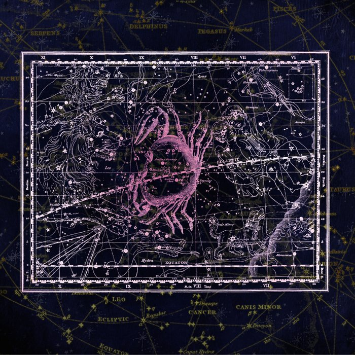 Cancer   Constellation map   Zodiac   Sign sky   Stars   Universe Comforters