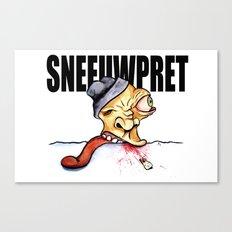 Sneeuwpret (Dutch) Canvas Print