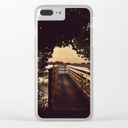 Colorado Pier Sunset Clear iPhone Case