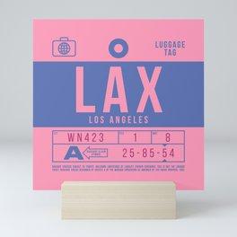 Luggage Tag B - LAX Los Angeles California Mini Art Print