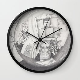 Reflection on a Christmas Ornament Wall Clock