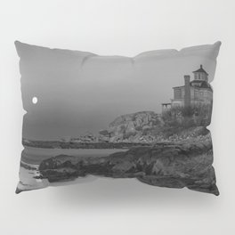 "Full ""Pink"" Moon at Good Harbor Beach BW Pillow Sham"