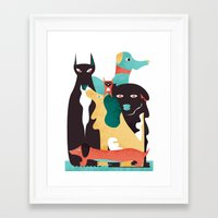 dogs Framed Art Prints featuring DOGS by Eleonora