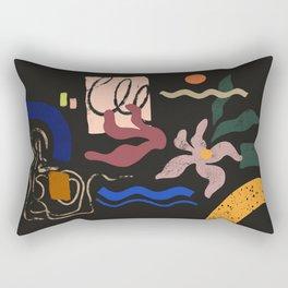 Abstract Floral 3 Rectangular Pillow