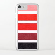Colorful Red Geometric Pattern Clear iPhone Case
