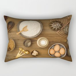 Basic baking ingredients Rectangular Pillow