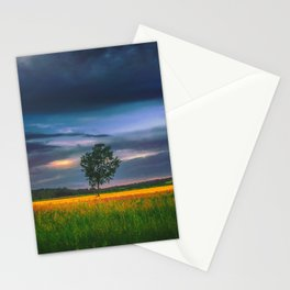 Lonely tree in the field Stationery Cards