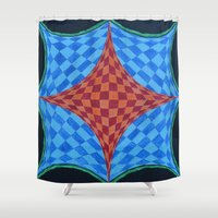 fractal Shower Curtains featuring Fractal by Labartwurx