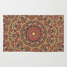 Rich Brown Arabian Pattern Rug