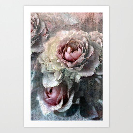 Vintage roses(7). Art Print