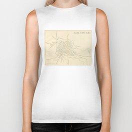 Vintage Map of Santa Clara Cuba (1899) Biker Tank