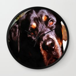Rottweiler Dog Artistic Pet Portait Wall Clock