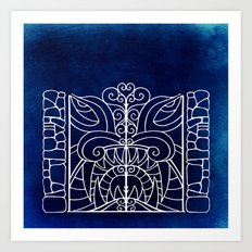Threshold Guardian (blue) Art Print