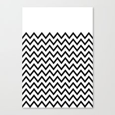 Black Chevron On White Canvas Print