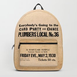 Party at the Plumbers Local No. 36 Backpack