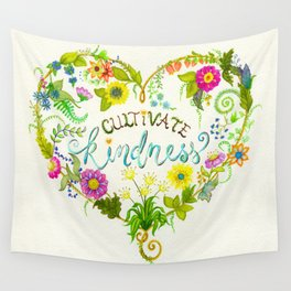Cultivate Kindness Wall Tapestry