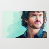 will graham Area & Throw Rugs featuring Will Graham by The Wayward Daughter