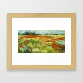 Le vent de la plaine Framed Art Print