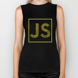 Javascript wordcloud shirt for JS Logo Biker Tank