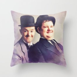 Laurel and Hardy, Hollywood Legends Throw Pillow
